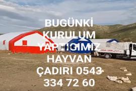 Varsan Çadır - Hayvan çadırı kurulumu yapılır.