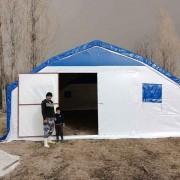 Büyükbaş, küçükbaş ve kanatlı hayvan için çadır barınak yapılır.